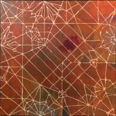 "The Third Child, 24 x 24"" encaustic"