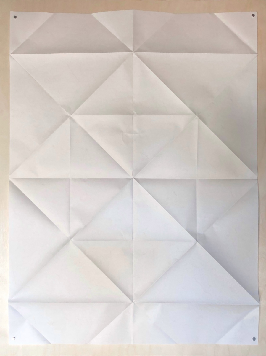 Paper Boat, 70 x 90 cm crease pattern