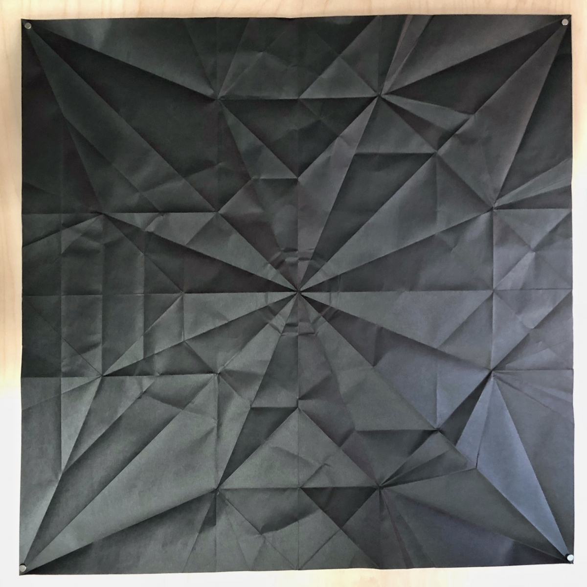 Kyoto's Swallow, 70 x 70 cm crease pattern [Sok Song]