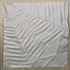 Navel Shell, 70 x 70 cm crease pattern [Tomoko Fuse]