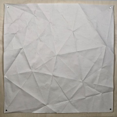 Screw Shell, 70 x 70 cm crease pattern [Tomoko Fuse]