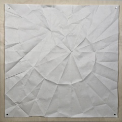 Solid Shell, 70 x 70 cm crease pattern [Tomoko Fuse]