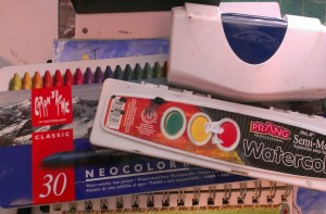 Pile o' watercolors