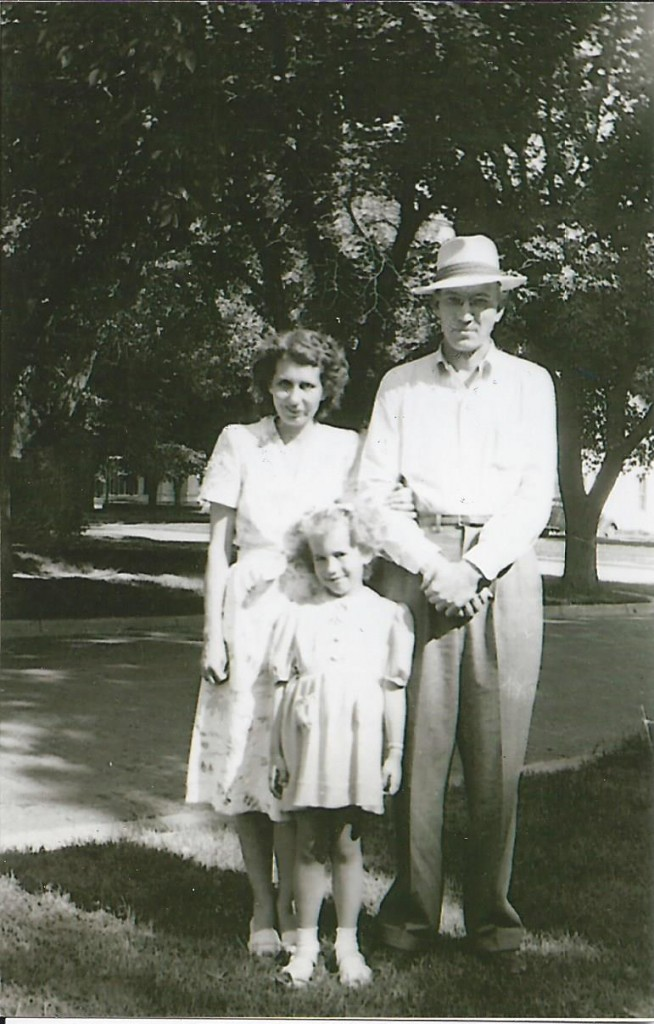 My grandmother, grandpa & mother